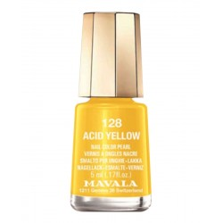 LACA DE UÑAS 128-ACID YELLOW MAVALA, 5ml