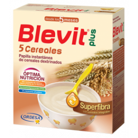BLEVIT PLUS SUPERFIBRA 5 CEREALES, 600gr.