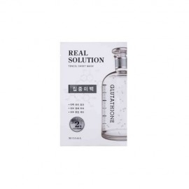 MISSHA REAL SOLUTION TENCEL SHEET MASK (PURE WHITENING) GLUTATHIONE, 25grs