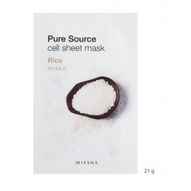 MISSHA PURE SOURCE CELL SHEET MASK RICE, 21GRS