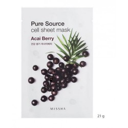 MISSHA PURE SOURCE CELL SHEET MASK ACAI BERRY, 21grs