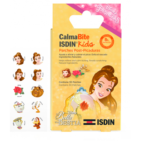 ISDIN CALMABITE KIDS PARCHES POST-PICADURAS LA BELLA Y LA BESTIA, 30PARCHES