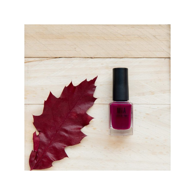 MIA COSMETICS ESMALTE 5 FREE BURGUNDY, 11ML