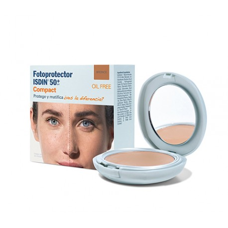 FOTOPROTECTOR ISDIN COMPACT BRONCE SPF50 OIL-FREE 10gr.