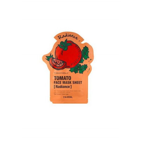 TONYMOLY I AM REAL TOMATO MASK SHEET- SKIN GLOW, 21ML