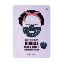 TONYMOLY EARTH BEAUTY BUBBLE MASK SHEET (CHARCOAL), 18ML