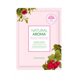 TONYMOLY NATURAL AROMA ROSEWOOD OIL MASK, 21GRS