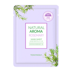 TONYMOLY NATURAL AROMA ROSEMARY OIL MASK, 21GRS