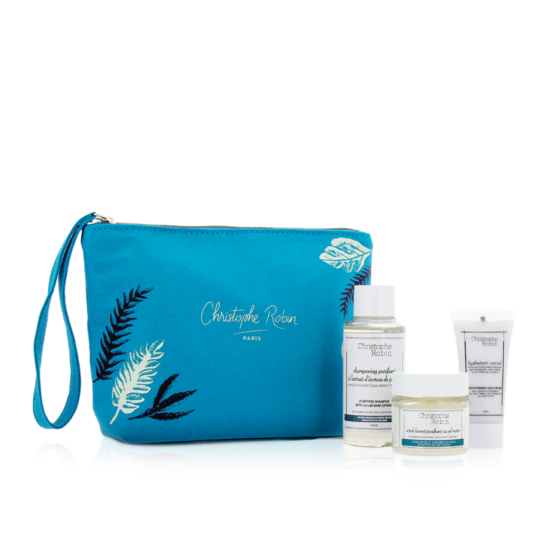 CHRISTOPHE ROBIN Ritual Detox Para el Cabello Travel Kit