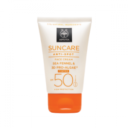 APIVITA SUNCARE CREMA FACIAL ANTIMANCHAS CON COLOR SPF50 50ML + REGALO AGUA FACIAL DE MONTAÑA GRIEGA 150ML