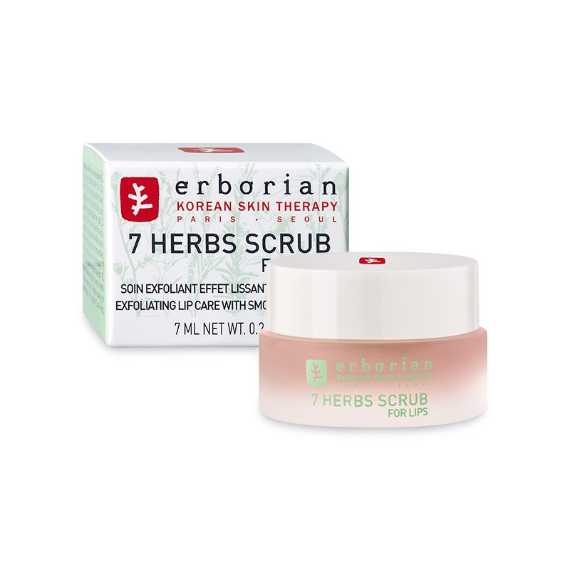 ERBORIAN Detox 7 Herbs Scrub For Lips Exfoliante para labios, 7ml