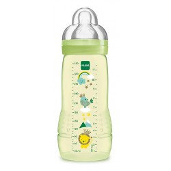 BIBERÓN BABY BOTTLE 4m+ CON TETINA ULTRA SUAVE AMARILLO MAM, 330ml
