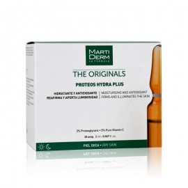 MARTIDERM COFRECITO ORLAÏS PROTEOS HYDRA PLUS PIEL NORMAL & SECA , 30AMPOLLAS + 10 AMPOLLAS NIGHT RENEW