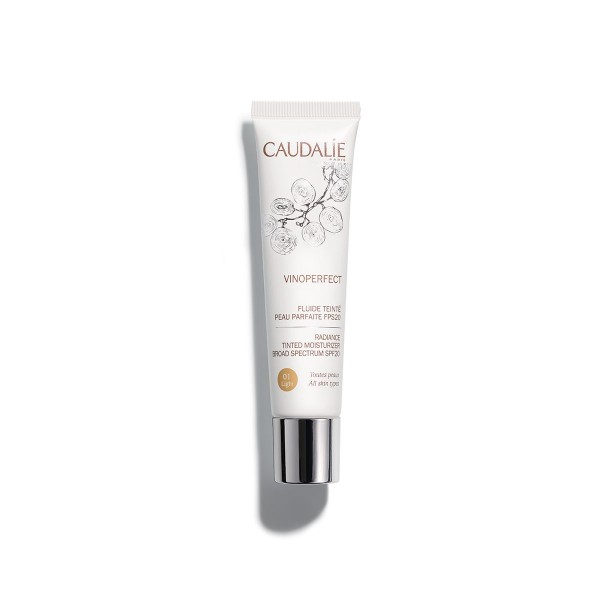 VINOPREFCT FLUIDO CON COLOR PIEL PERFECTA FPS20 TONO LIGHT CAUDALIE 40ML