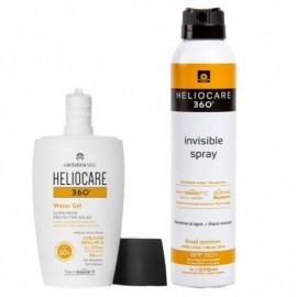 Heliocare Pack Solar 360º Water Gel Spf 50 Solar Facial 50ml + Spray Invisible Corporal 200 ml