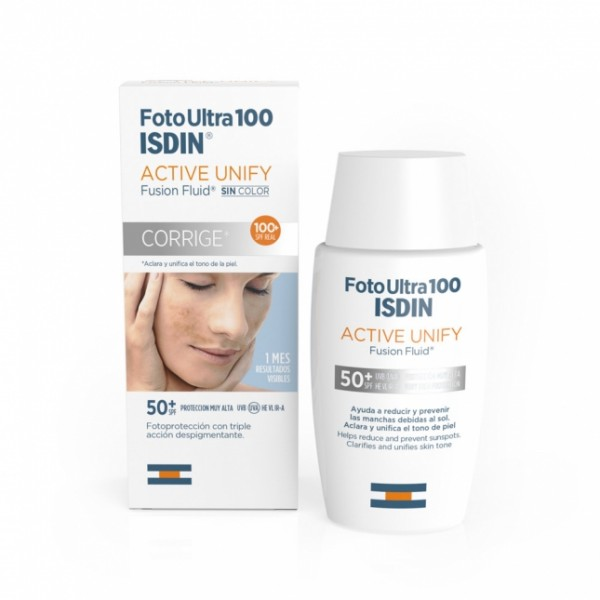 FOTO ULTRA 100 ISDIN ACTIVE UNIFY FUSION FLUID SIN COLOR 50ml