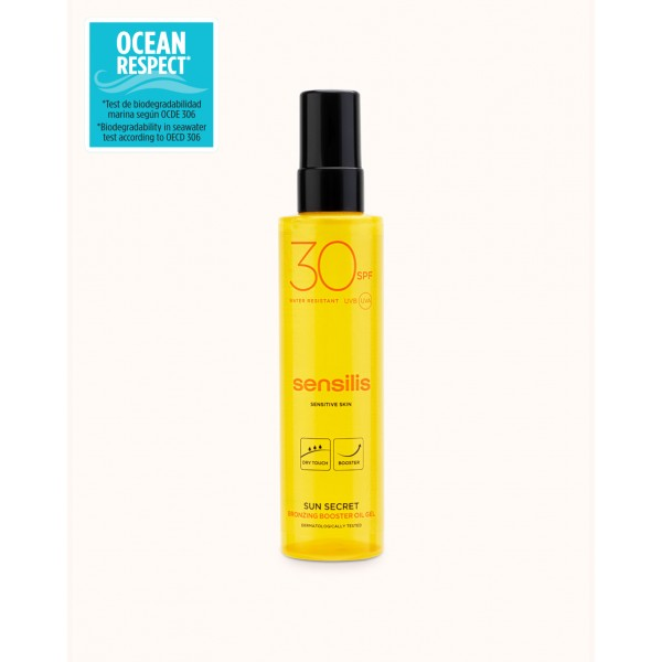 Gel Aceite activador del bronceado Sun Secret SPF 30+ , 200ml