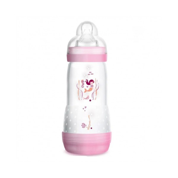 Biberón Easy Start Anti Cólicos +4M Rosa, 320ml