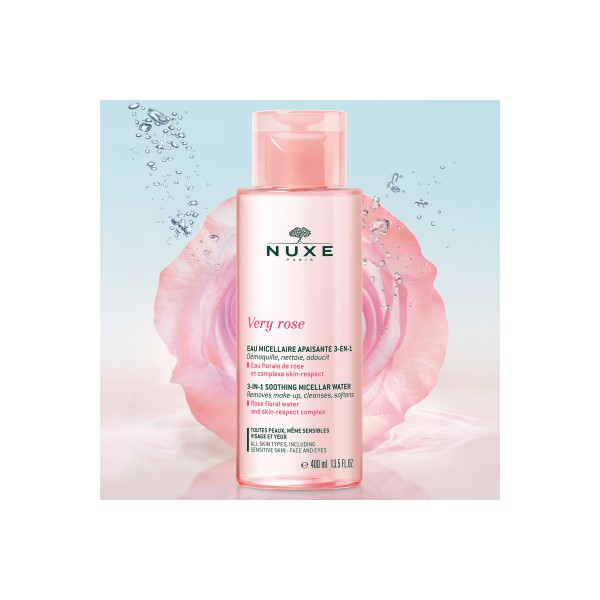Agua Micelar Calmante 3-en-1 Very Rose, 400ml