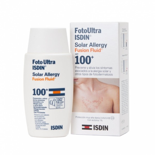 FOTOULTRA ISDIN SOLAR ALLERGY FUSION FLUID 100+, 50ml