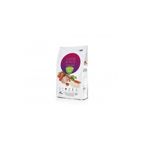 Alimento Natura Diet Lamb & Rice, 500gr