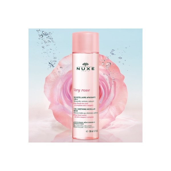 Agua Micelar Calmante 3-en-1 Very Rose, 200ml