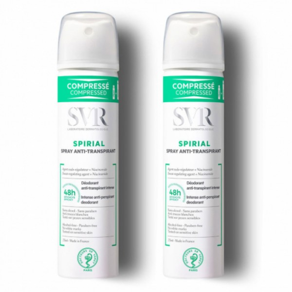 Spray Anti-Transpirante Spirial, Duplo 2x75ml