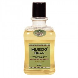 MUSGO REAL GEL DE DUCHA & CHAMPÚ LIME BASIL, 300ml