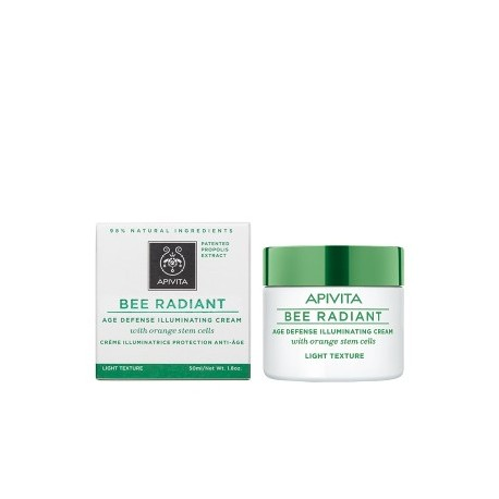 BEE RADIANT DEFENSA ANTIEDAD CREMA ILUMINADORA TEXTURA LIGHT APIVITA 50ML