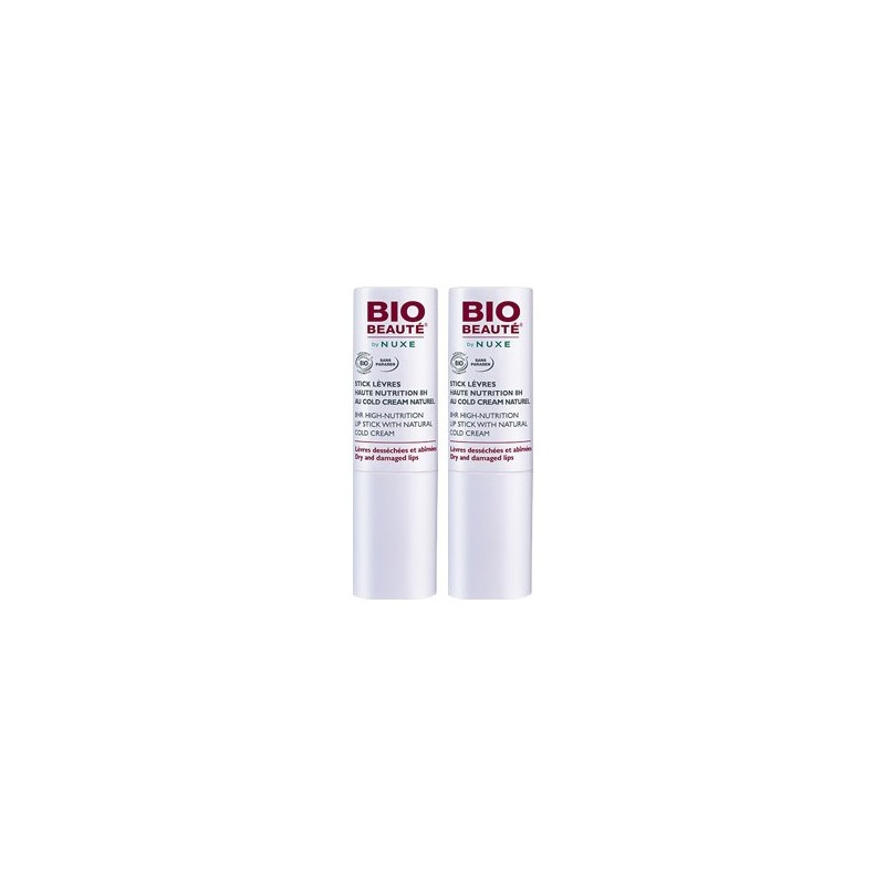 NUXE BIO-BEAUTÉ COLD CREAM DUPLO STICK LABIAL , 2x4GRS