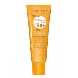 BIODERMA PHOTODERM MAX AQUAFLUIDO SPF50 CON COLOR TONO DORADO, 40ML